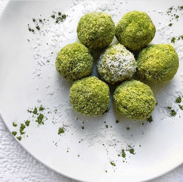 Matcha Coconut Bliss Bites