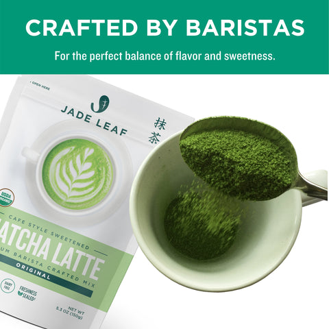 Matcha Latte Mix - 5.3oz Pouch (15 servings) - Crafted