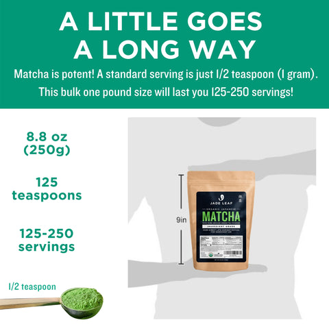 Ingredient Matcha - 250g Pouch - Size