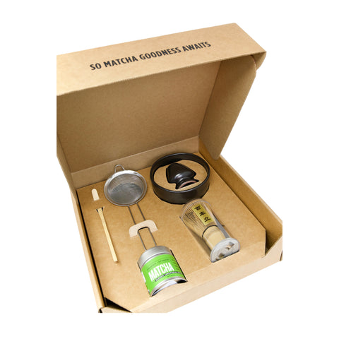 Complete Matcha Gift Set - Classic Ceremonial Grade - Open