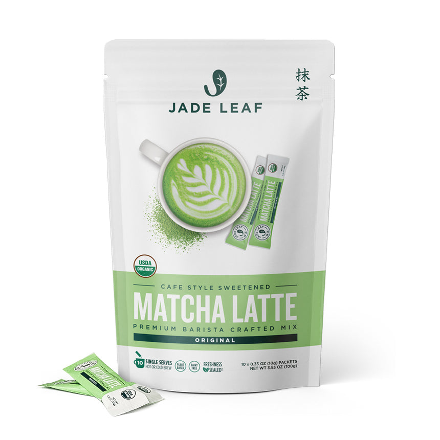 Cafe Style Matcha Latte Mix - Original - Stick Packs - 10 Count - Front