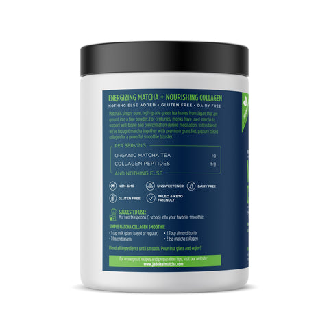 Matcha Collagen Smoothie Booster - 12oz (56 servings) - Left