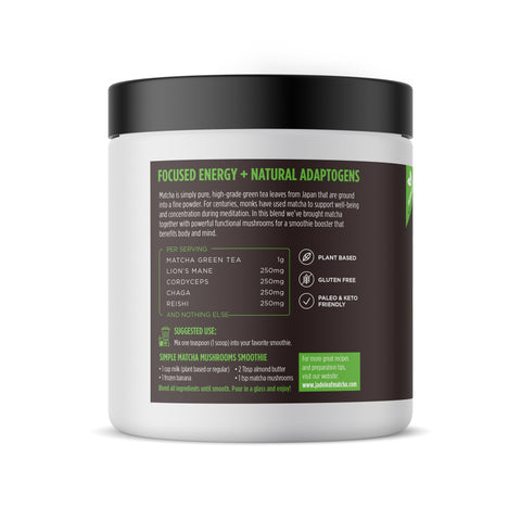 Matcha Mushrooms Smoothie Booster - 7oz (100 servings) - Left