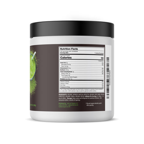Matcha Mushrooms Smoothie Booster - 7oz (100 servings) - Right