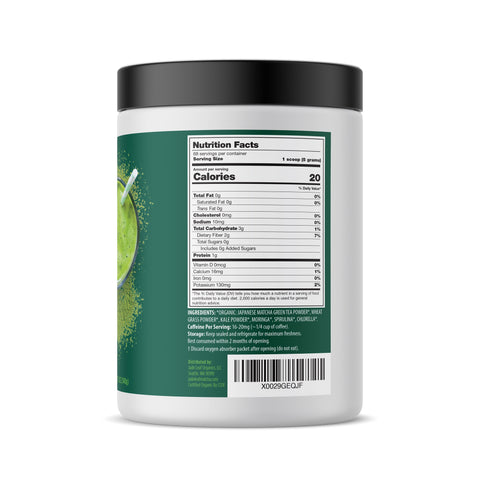 Matcha Supergreens Smoothie Booster - 12oz (68 servings) - Right