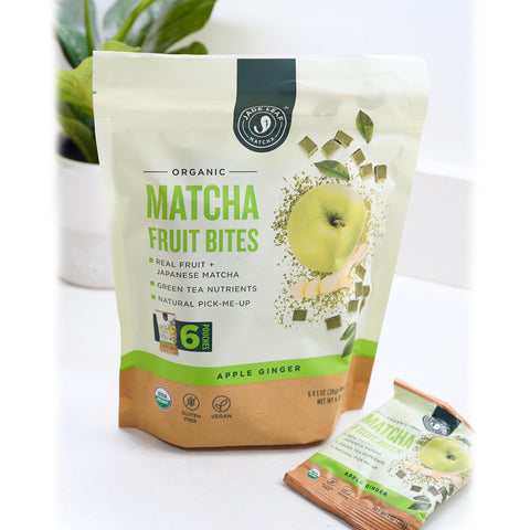Matcha Fruit Bites - Apple Ginger - 6 Pouches - Front