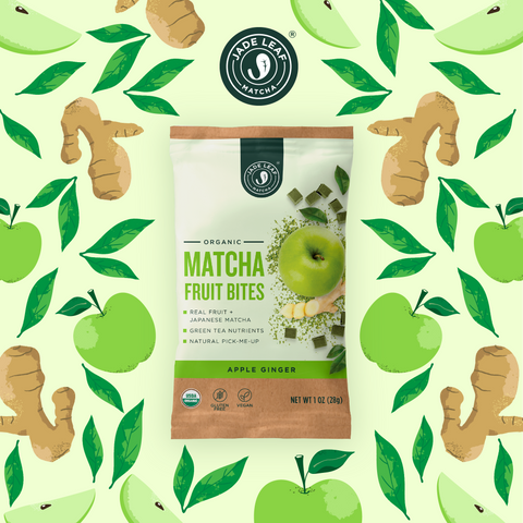 Matcha Fruit Bites - Apple Ginger - 6 Pouches - 30 Pouches - Pattern