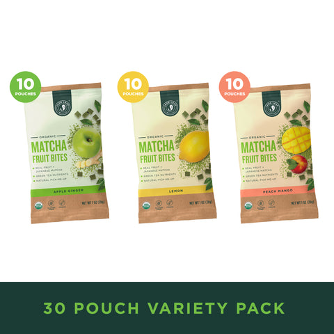 Matcha Fruit Bites - Variety - 30 Pouches - Hero