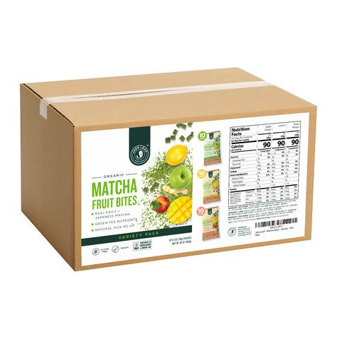 Matcha Fruit Bites - Variety - 30 Pouches - Box
