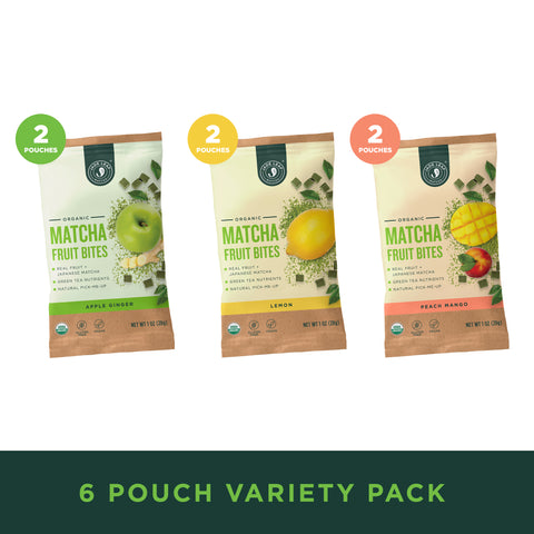Matcha Fruit Bites - Variety - 6 Pouches - Hero