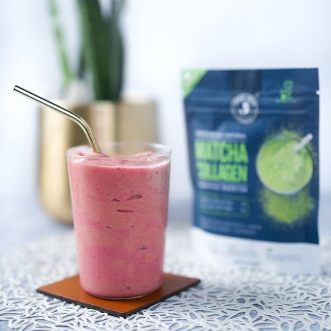 Matcha Collagen Smoothie Booster - 3.8oz (18 servings) - Lifestyle