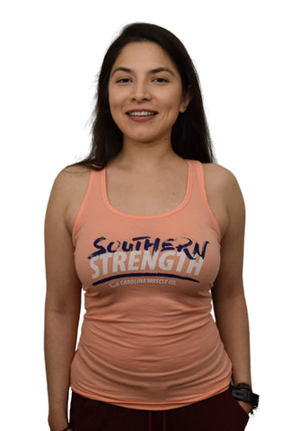 Women's Southern Strength Tank - Peach