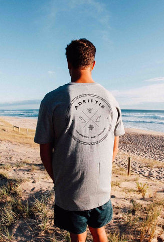 Mens Surf Pioneer Tee | Adrift Essentials Online Shopping | Surf Collective of Male & Female Clothing & Accessories