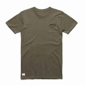 Mens Army Surf Tee | Adrift Essentials Online Shopping | Surf Collective of Male & Female Clothing & Accessories