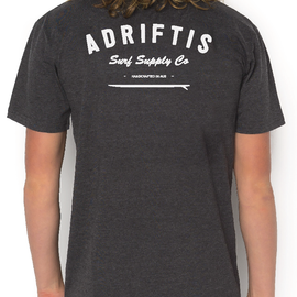 Mens Surf Tee - Coal | Adrift Essentials Online Shopping | Surf Collective of Male & Female Clothing & Accessories