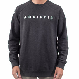 Mens Branded Asphalt Sweater | Adrift Essentials Online Shopping | Surf Collective of Male & Female Clothing & Accessories