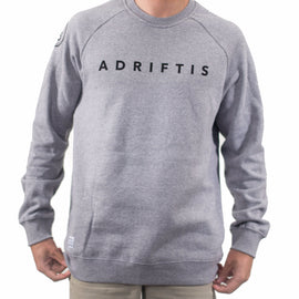 Mens Branded Grey Sweater | Adrift Essentials Online Shopping | Surf Collective of Male & Female Clothing & Accessories