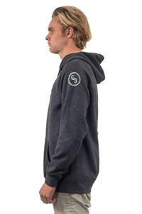 Mens Branded Asphalt Hoodie | Adrift Essentials Online Shopping | Surf Collective of Male & Female Clothing & Accessories