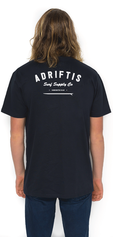 Mens Surf Tee - Navy | Adrift Essentials Online Shopping | Surf Collective of Male & Female Clothing & Accessories