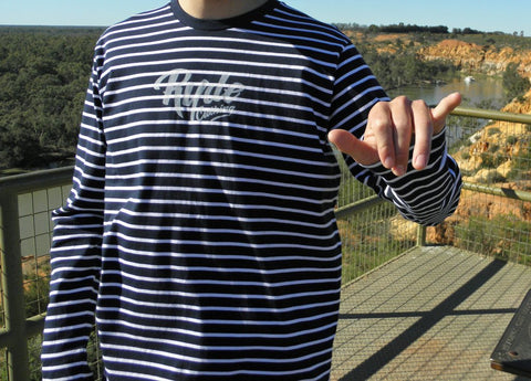 Ryde Stripes Longsleeve | Adrift Essentials Online Shopping | Surf Collective of Male & Female Clothing & Accessories
