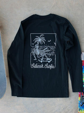SideWalk Surfin Longsleeve ~ Black | Adrift Essentials Online Shopping | Surf Collective of Male & Female Clothing & Accessories