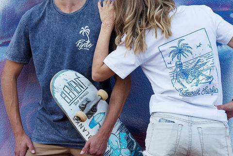 SideWalk Surfin Tee ~ White | Adrift Essentials Online Shopping | Surf Collective of Male & Female Clothing & Accessories