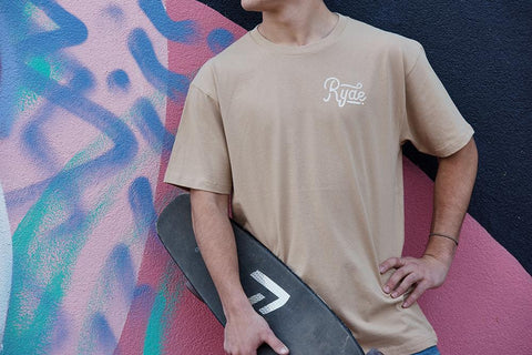 Simple Tee ~ Tan | Adrift Essentials Online Shopping | Surf Collective of Male & Female Clothing & Accessories