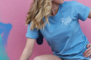Simple Tee ~ Carolina Blue | Adrift Essentials Online Shopping | Surf Collective of Male & Female Clothing & Accessories