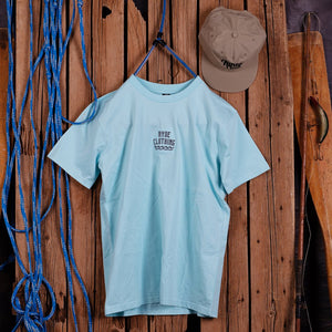 EMBROIDERED WAVE ~ LAGOON BLUE | Adrift Essentials Online Shopping | Surf Collective of Male & Female Clothing & Accessories