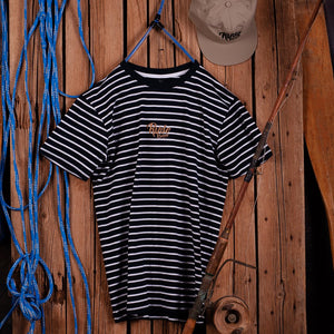 STOKED STRIPES TEE ~ NAVY/WHITE | Adrift Essentials Online Shopping | Surf Collective of Male & Female Clothing & Accessories