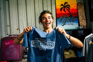 RIVERLAND TEE ~ FADED BLUE | Adrift Essentials Online Shopping | Surf Collective of Male & Female Clothing & Accessories