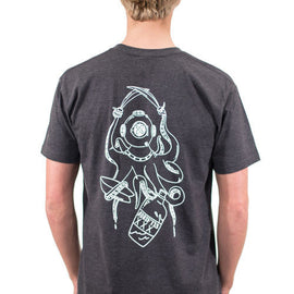 Mens Sea Buccaneer Tee - Asphalt | Adrift Essentials Online Shopping | Surf Collective of Male & Female Clothing & Accessories
