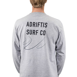 Mens Coastal LS Top - Grey | Adrift Essentials Online Shopping | Surf Collective of Male & Female Clothing & Accessories