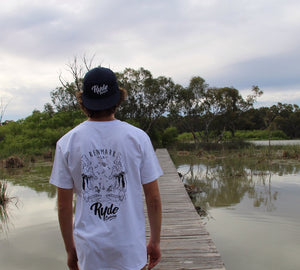 HomeTown Tee ~ White | Adrift Essentials Online Shopping | Surf Collective of Male & Female Clothing & Accessories