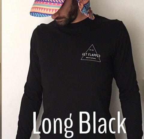 Long Black - Long Sleeve Tee | Adrift Essentials Online Shopping | Surf Collective of Male & Female Clothing & Accessories