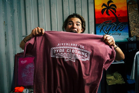 RIVERLAND TEE ~ FADED RED | Adrift Essentials Online Shopping | Surf Collective of Male & Female Clothing & Accessories