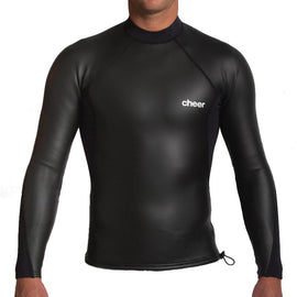 2MM LIMESTONE L/S VEST - BLACK | Adrift Essentials Online Shopping | Surf Collective of Male & Female Clothing & Accessories