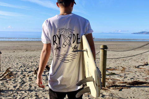 Straya Tee ~ White | Adrift Essentials Online Shopping | Surf Collective of Male & Female Clothing & Accessories
