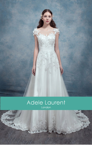 Jade|Aline illusion back wedding dress