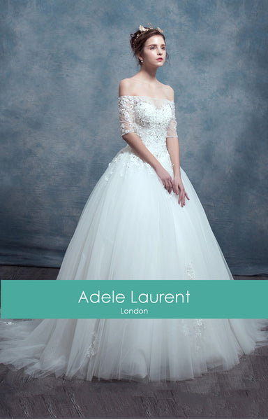Lina | Ball Gown Wedding Dress with Sleeves