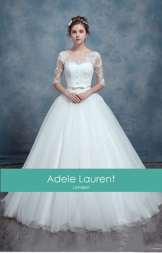 c796d3917841 Charlotte Sample|Ballgown style wedding dress with sleeves