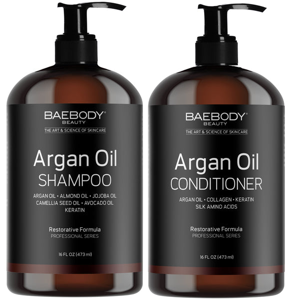 Argan Oil Shampoo & Conditioner Set - available at Amazon