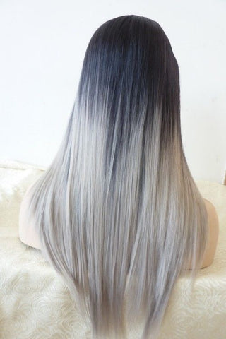 Milan Straight Custom Wig (Gray)