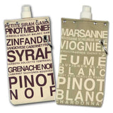 Canvas Wine Totes (red and white)