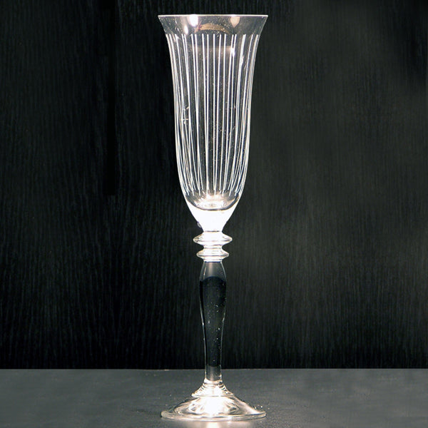 Ligne Etched Champagne Flutes (Set of 6)
