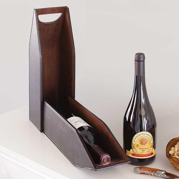 Mahogany 1-Bottle Wine Tote