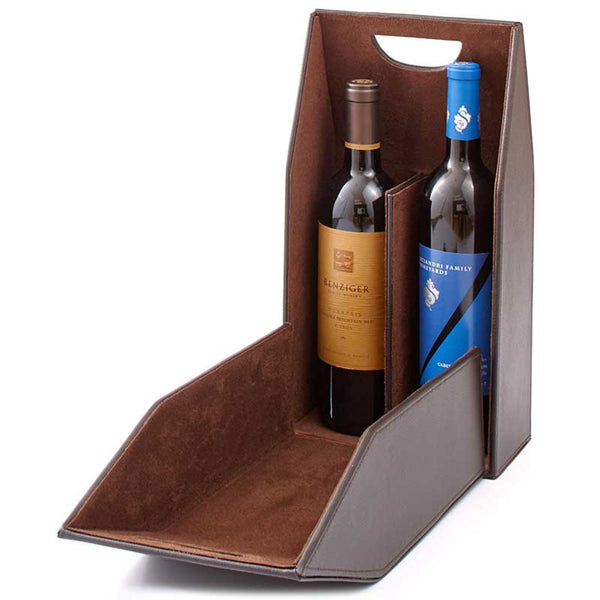 Mahogany 2-Bottle Wine Tote