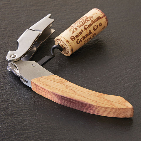 Barrel Stave Corkscrew Oil Rubbed