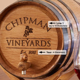 Personalized Oak Wine Barrel Kit