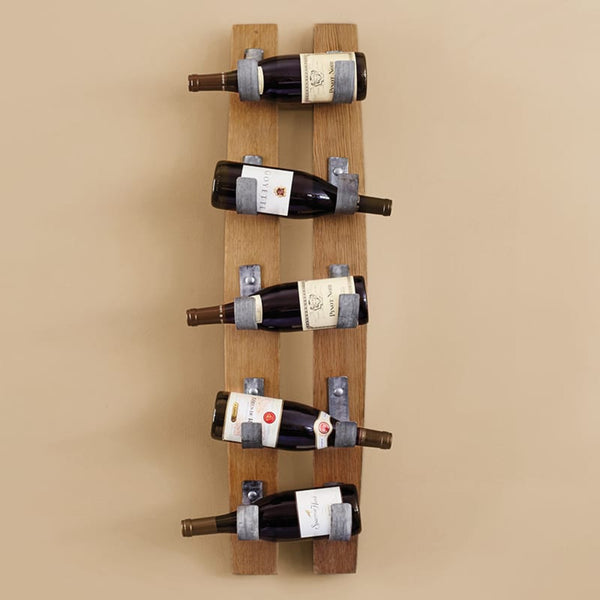 Hanging Wine Rack - Stave, 5 Bottle